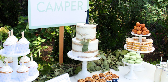 """One Happy Camper"" First Birthday Party on Kara's Party Ideas 