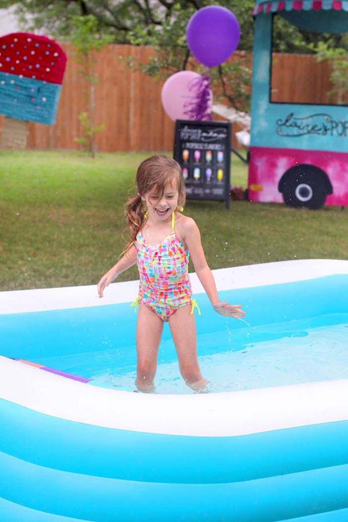 "Pool time from a ""Two Cool"" Popsicle Themed Birthday Party on Kara's Party Ideas 