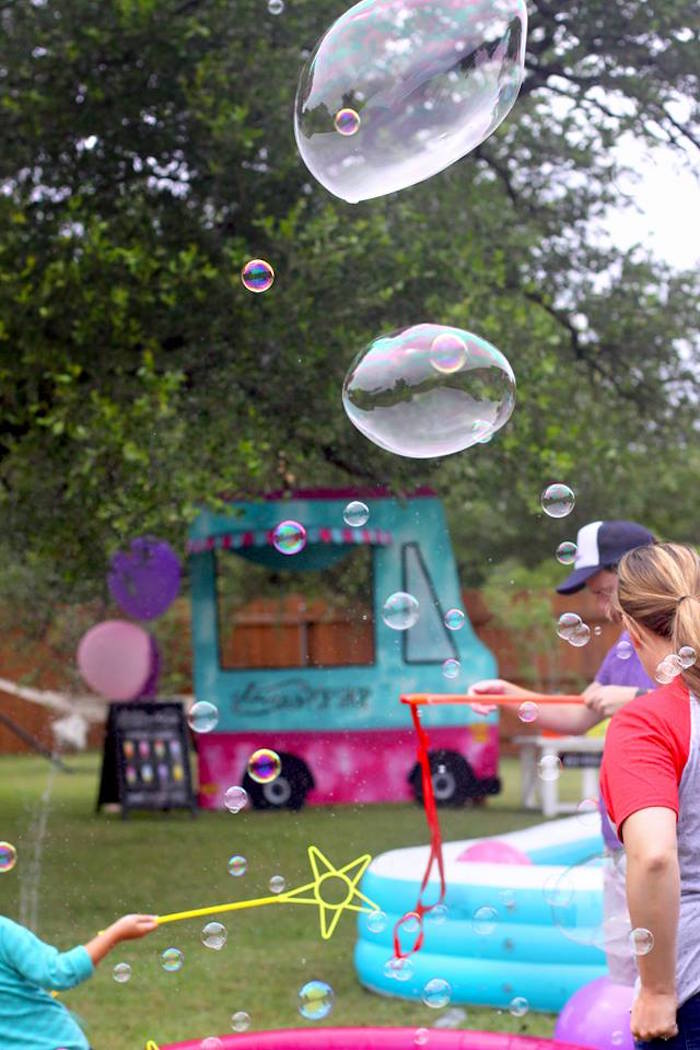 "Bubbles from a ""Two Cool"" Popsicle Themed Birthday Party on Kara's Party Ideas 