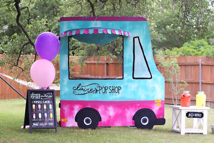 "Popsicle stand from a ""Two Cool"" Popsicle Themed Birthday Party on Kara's Party Ideas 