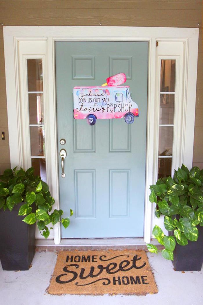 "Popsicle truck welcome sign from a ""Two Cool"" Popsicle Themed Birthday Party on Kara's Party Ideas 