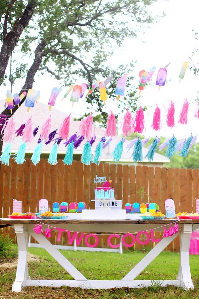 """Two Cool"" Popsicle Themed Birthday Party on Kara's Party Ideas 