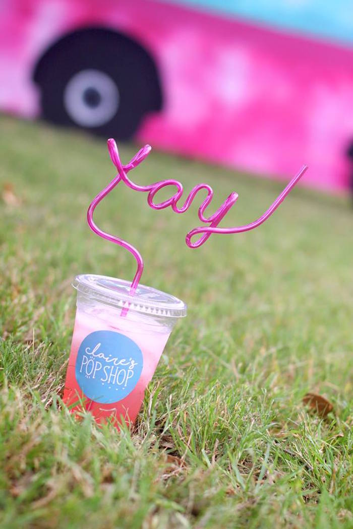 "Drink cup from a ""Two Cool"" Popsicle Themed Birthday Party on Kara's Party Ideas 