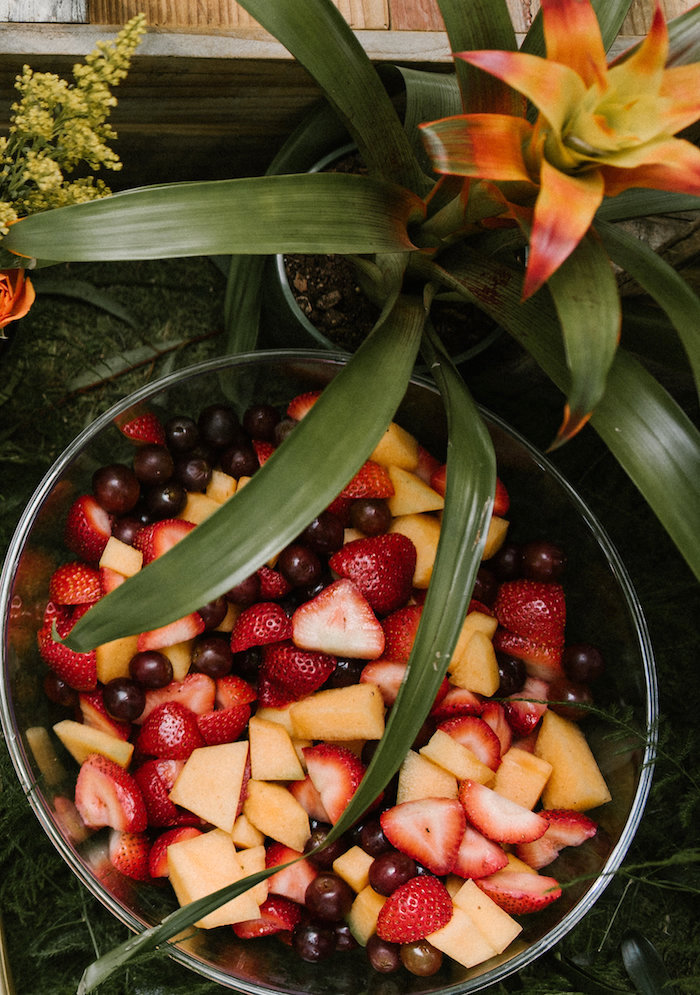 "Fruit salad from a ""Wild ONE"" Jungle Birthday Party on Kara's Party Ideas 