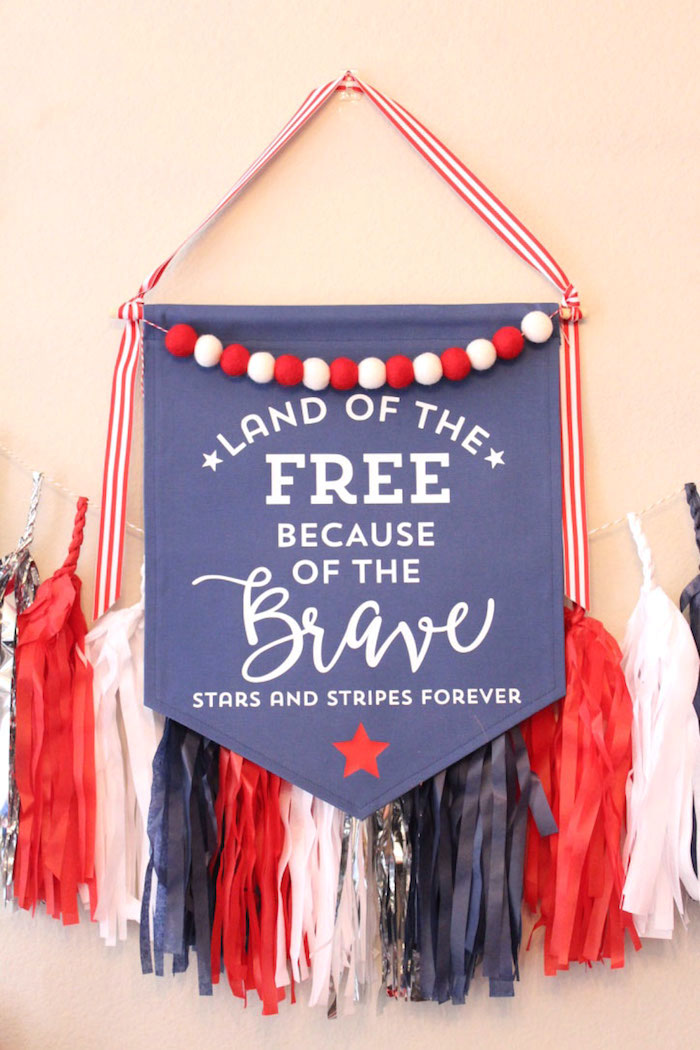Pennant banner from a 4th of July Party on Kara's Party Ideas | KarasPartyIdeas.com (10)
