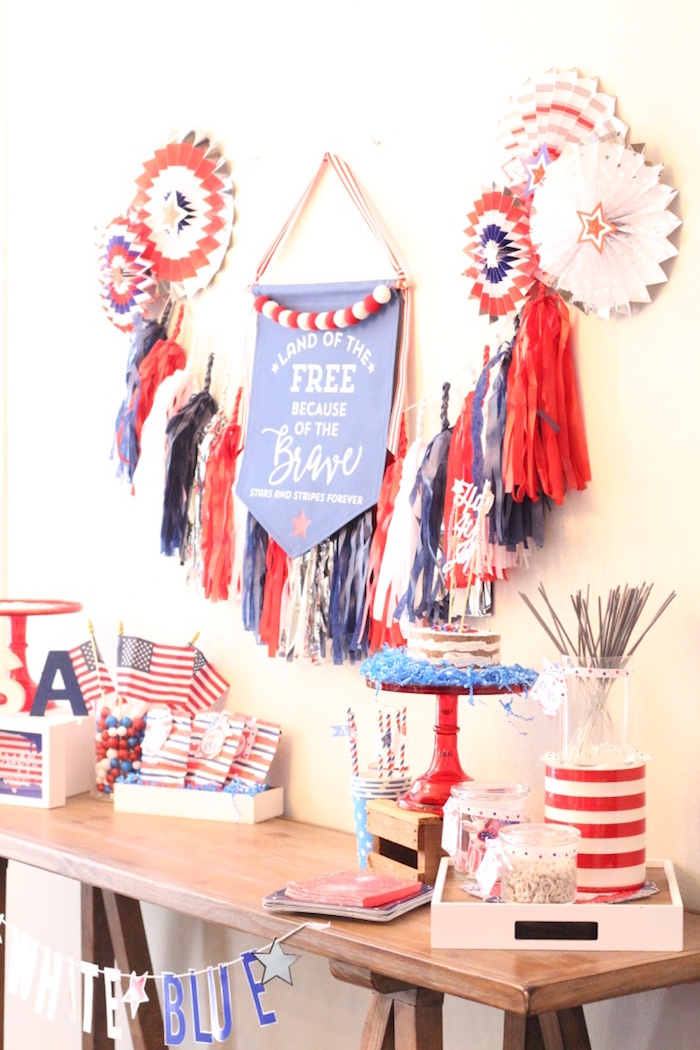 4th of July party table from a 4th of July Party on Kara's Party Ideas | KarasPartyIdeas.com (26)