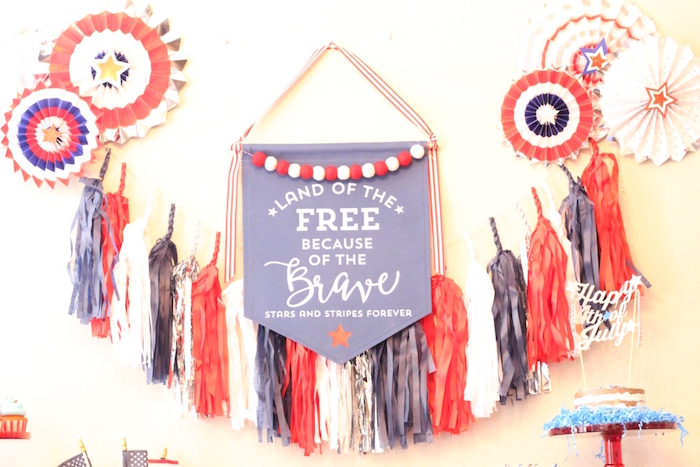 4th of July backdrop + bunting from a 4th of July Party on Kara's Party Ideas | KarasPartyIdeas.com (22)