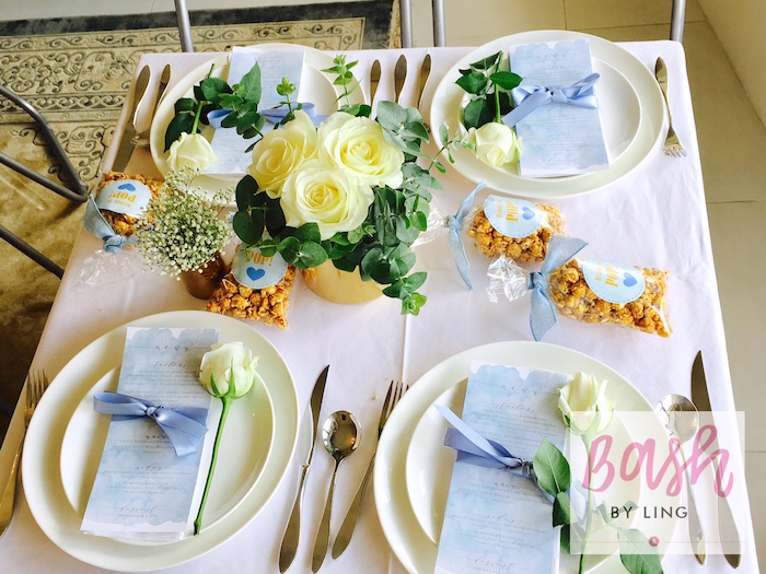 Guest table from A Royal Baby Shower on Kara's Party Ideas | KarasPartyIdeas.com (11)
