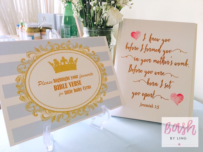 Party signage from A Royal Baby Shower on Kara's Party Ideas | KarasPartyIdeas.com (8)