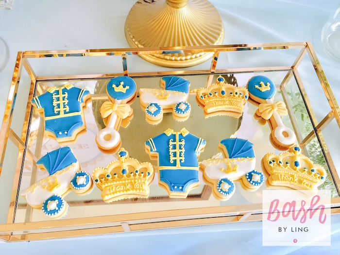 Royal Prince Cookies from A Royal Baby Shower on Kara's Party Ideas | KarasPartyIdeas.com (19)