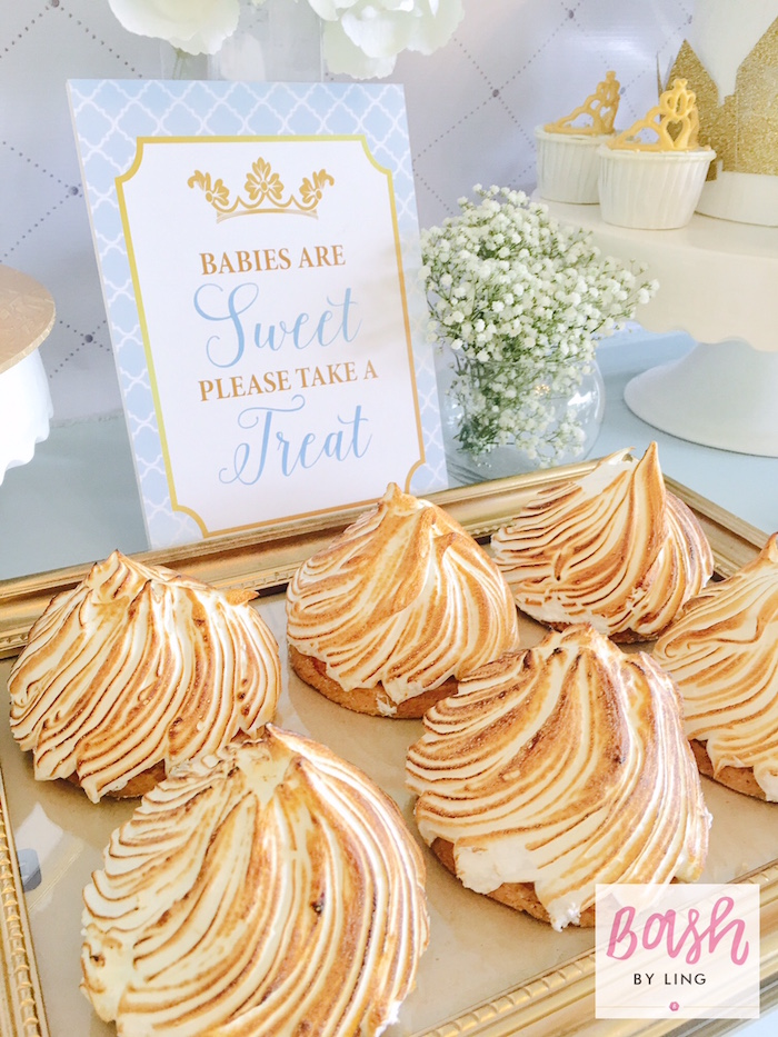 Meringue pies from A Royal Baby Shower on Kara's Party Ideas | KarasPartyIdeas.com (17)