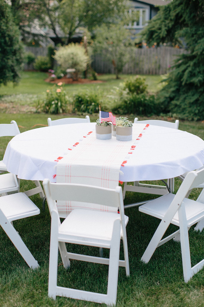 Guest table from an All American Labor Day Barbecue on Kara's Party Ideas | KarasPartyIdeas.com (26)