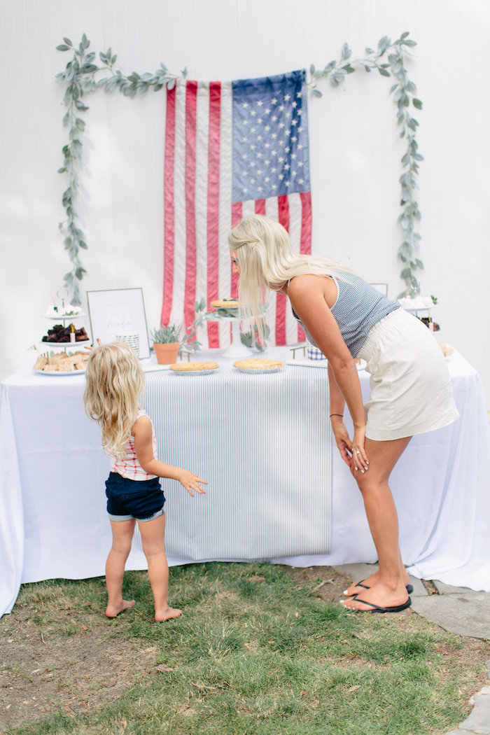 Dessert table from an All American Labor Day Barbecue on Kara's Party Ideas | KarasPartyIdeas.com (23)