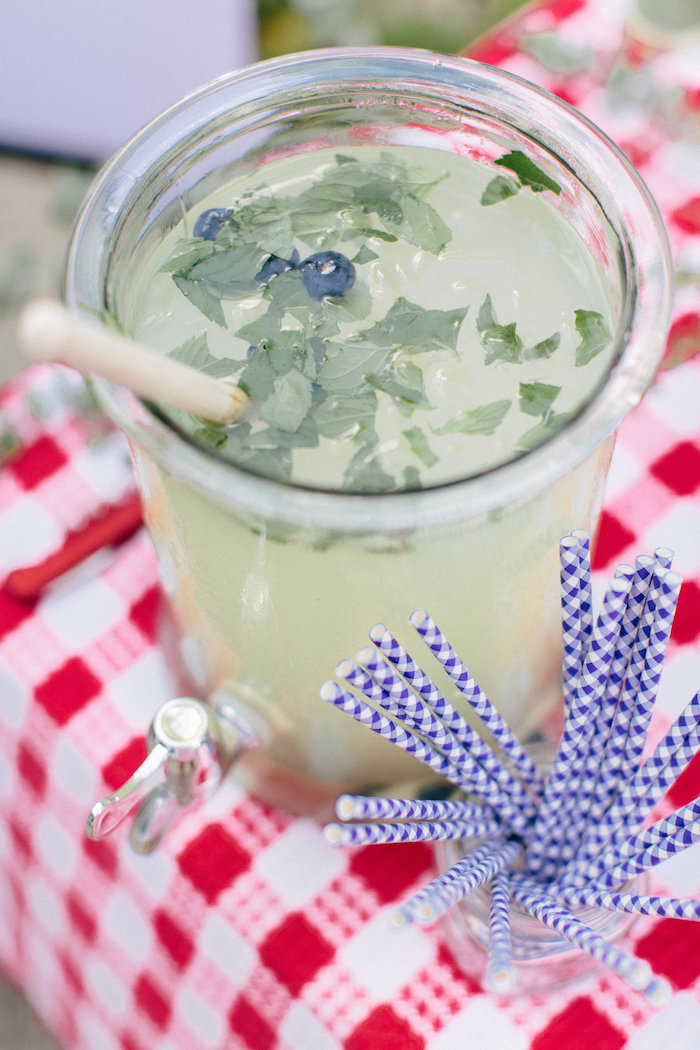 Mint lemonade from an All American Labor Day Barbecue on Kara's Party Ideas | KarasPartyIdeas.com (22)