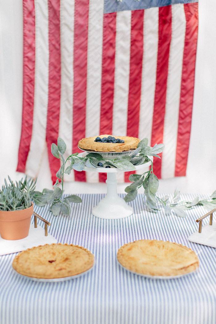 Patriotic pies from an All American Labor Day Barbecue on Kara's Party Ideas | KarasPartyIdeas.com (13)