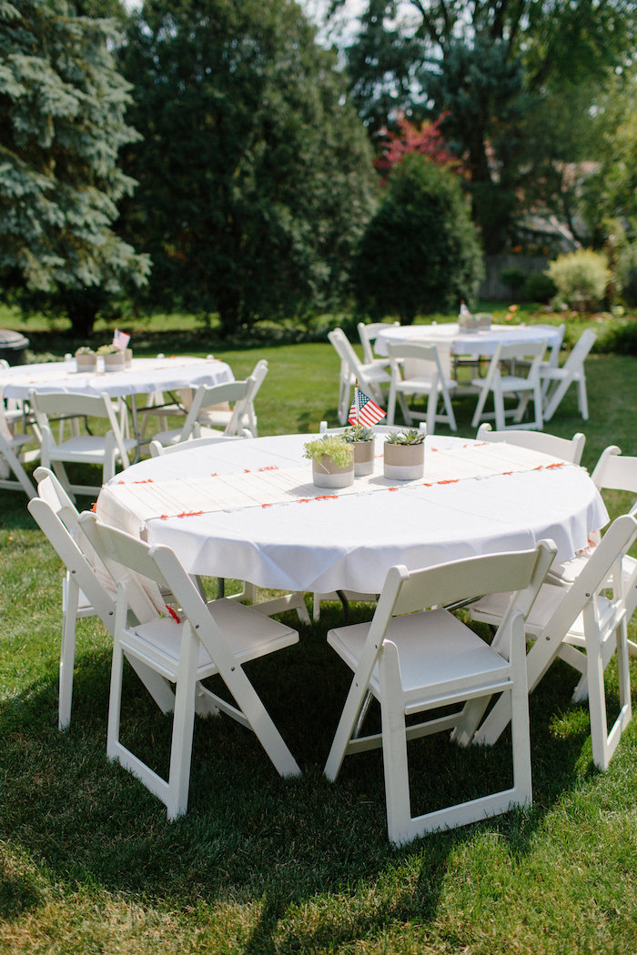 Guest tables from an All American Labor Day Barbecue on Kara's Party Ideas | KarasPartyIdeas.com (32)