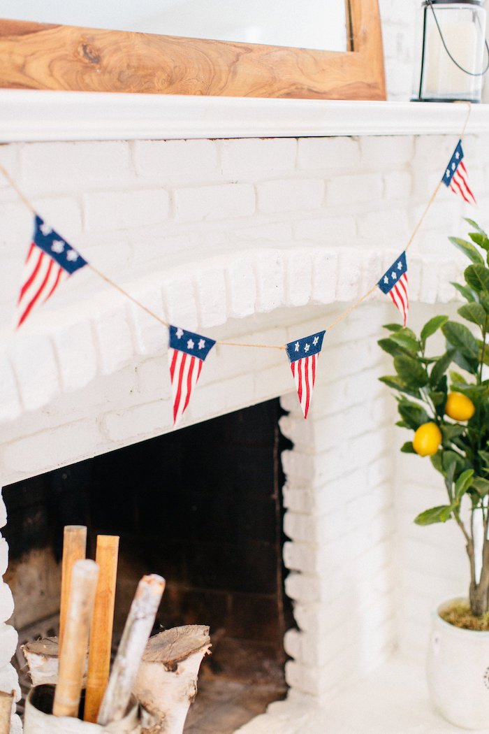 Flag pennant banner from an All American Labor Day Barbecue on Kara's Party Ideas | KarasPartyIdeas.com (29)