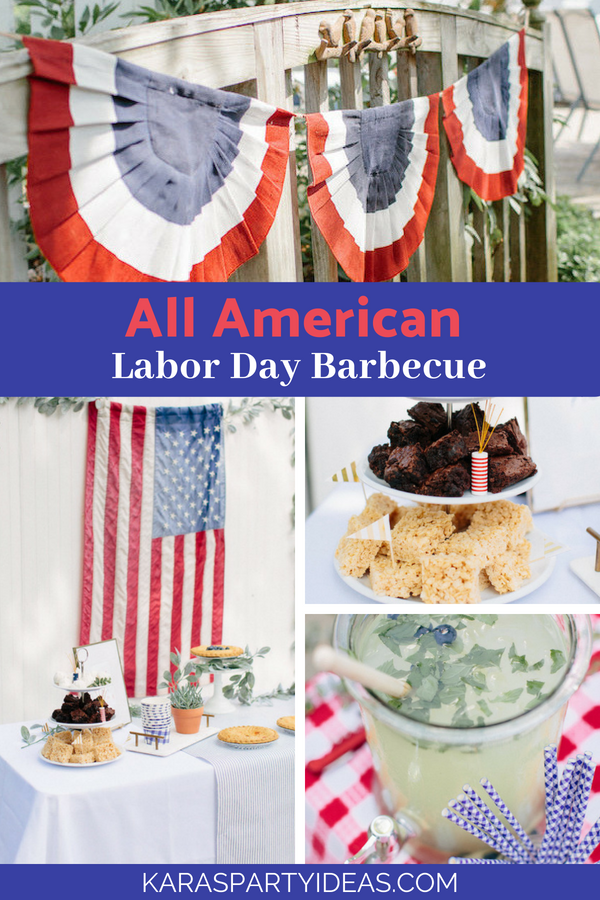 All American Labor Day Barbecue via Kara's Party Ideas - KarasPartyIdeas.com