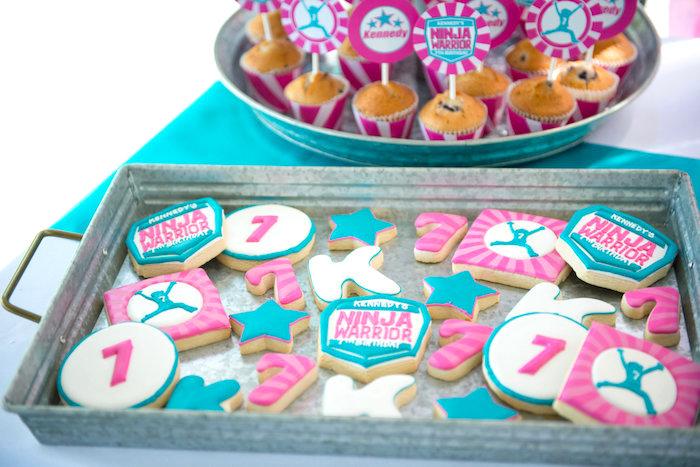Ninja Warrior Cookies from an American Ninja Warrior Themed Birthday Party on Kara's Party Ideas | KarasPartyIdeas.com (48)