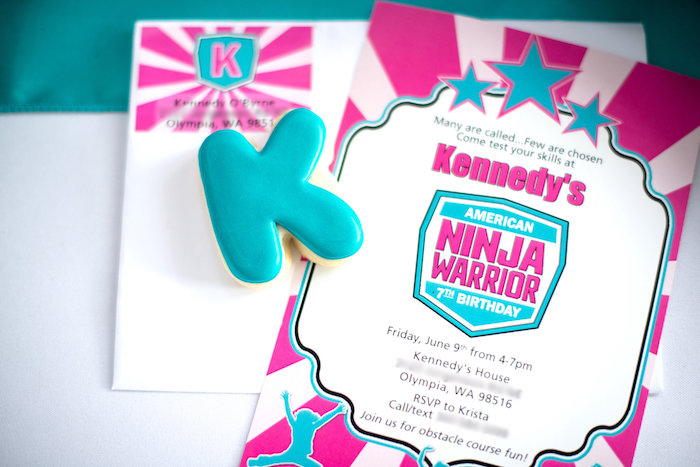 Invitation from an American Ninja Warrior Themed Birthday Party on Kara's Party Ideas | KarasPartyIdeas.com (33)