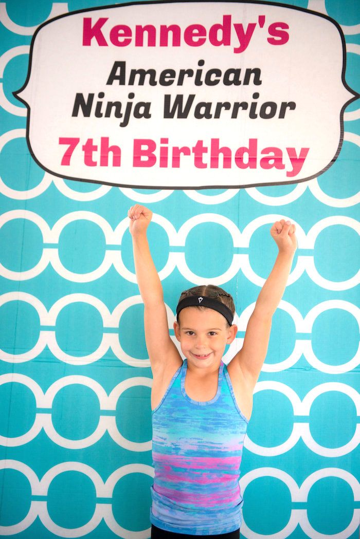 Photo booth from an American Ninja Warrior Themed Birthday Party on Kara's Party Ideas | KarasPartyIdeas.com (31)