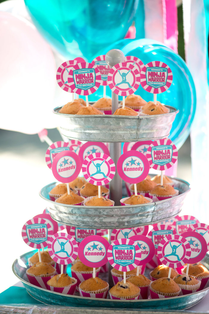 Ninja Warrior Muffins from an American Ninja Warrior Themed Birthday Party on Kara's Party Ideas | KarasPartyIdeas.com (58)