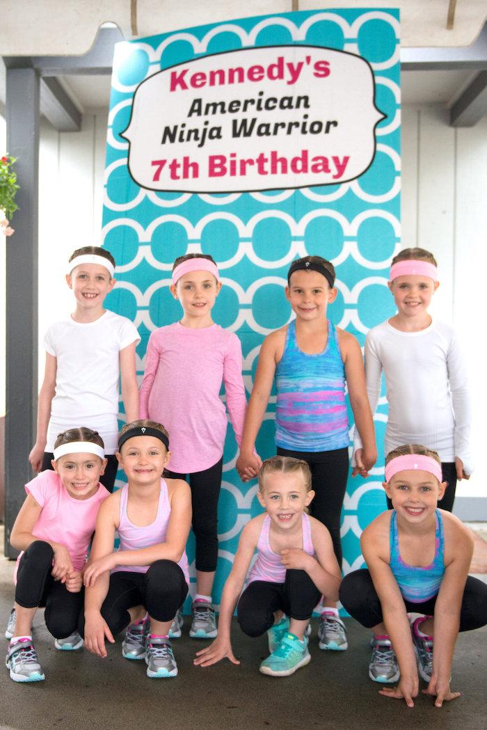 Photo backdrop from an American Ninja Warrior Themed Birthday Party on Kara's Party Ideas   KarasPartyIdeas.com (30)
