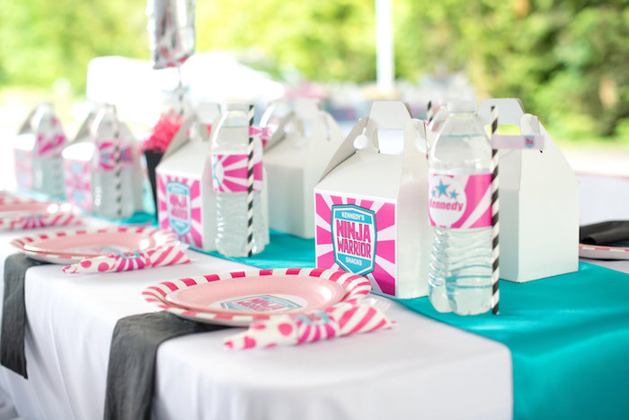 Guest tablescape from an American Ninja Warrior Themed Birthday Party on Kara's Party Ideas | KarasPartyIdeas.com (25)
