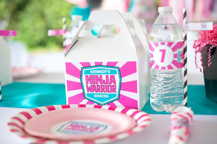 Gable snack box from an American Ninja Warrior Themed Birthday Party on Kara's Party Ideas | KarasPartyIdeas.com (24)