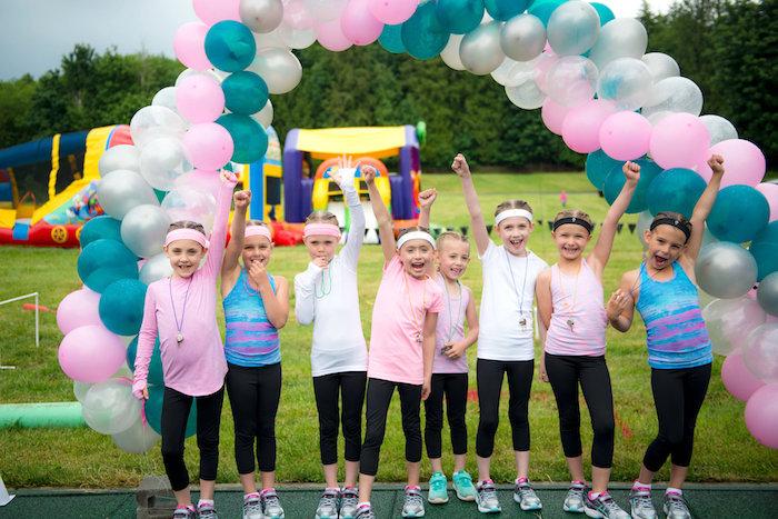 Balloon arch from an American Ninja Warrior Themed Birthday Party on Kara's Party Ideas | KarasPartyIdeas.com (21)