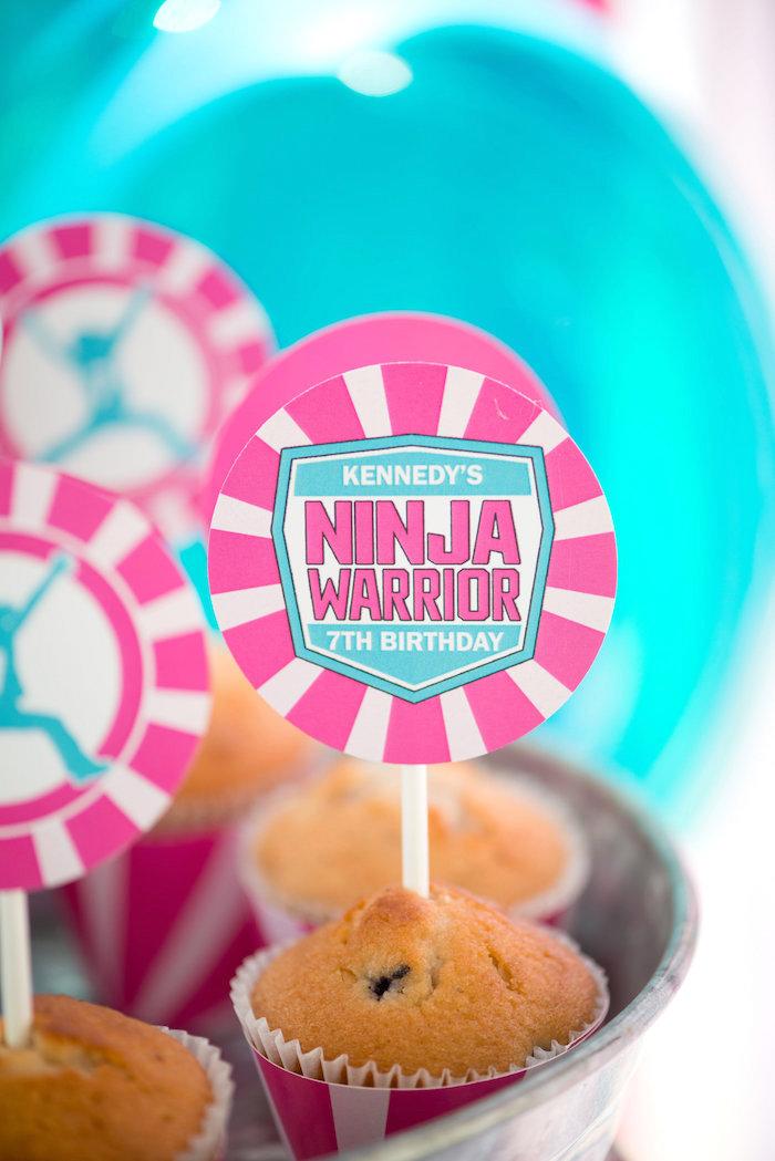 Ninja Warrior Muffin from an American Ninja Warrior Themed Birthday Party on Kara's Party Ideas   KarasPartyIdeas.com (57)