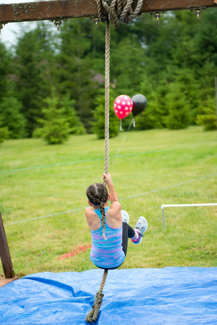 Obstacle course from an American Ninja Warrior Themed Birthday Party on Kara's Party Ideas | KarasPartyIdeas.com (19)