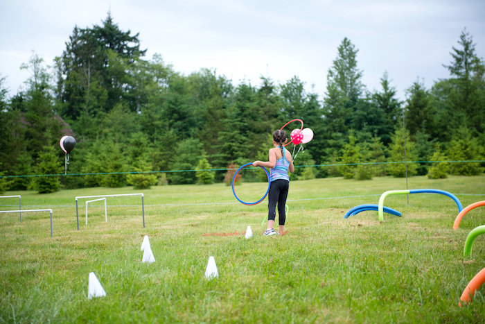 Obstacle course from an American Ninja Warrior Themed Birthday Party on Kara's Party Ideas | KarasPartyIdeas.com (16)