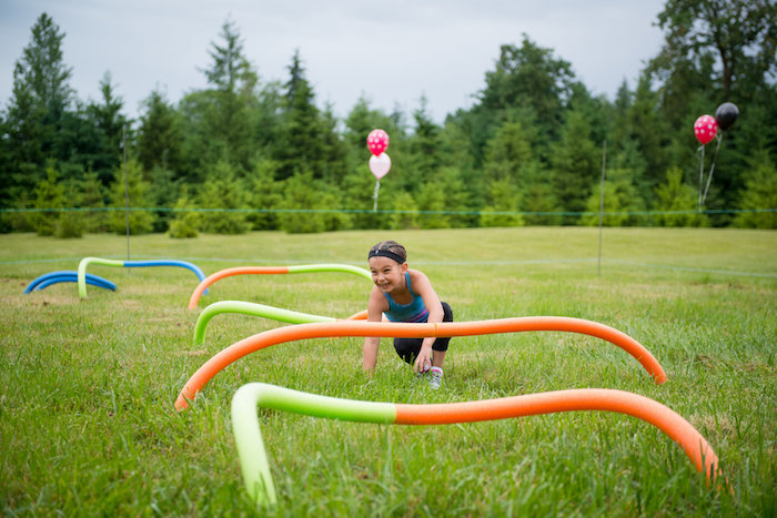 Obstacle course from an American Ninja Warrior Themed Birthday Party on Kara's Party Ideas | KarasPartyIdeas.com (15)