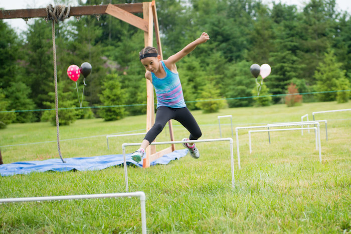 Obstacle course from an American Ninja Warrior Themed Birthday Party on Kara's Party Ideas | KarasPartyIdeas.com (12)
