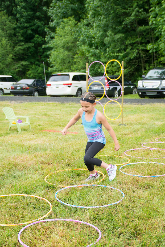 Obstacle course from an American Ninja Warrior Themed Birthday Party on Kara's Party Ideas | KarasPartyIdeas.com (11)