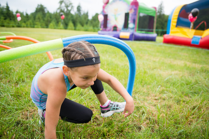 Obstacle course from an American Ninja Warrior Themed Birthday Party on Kara's Party Ideas | KarasPartyIdeas.com (9)