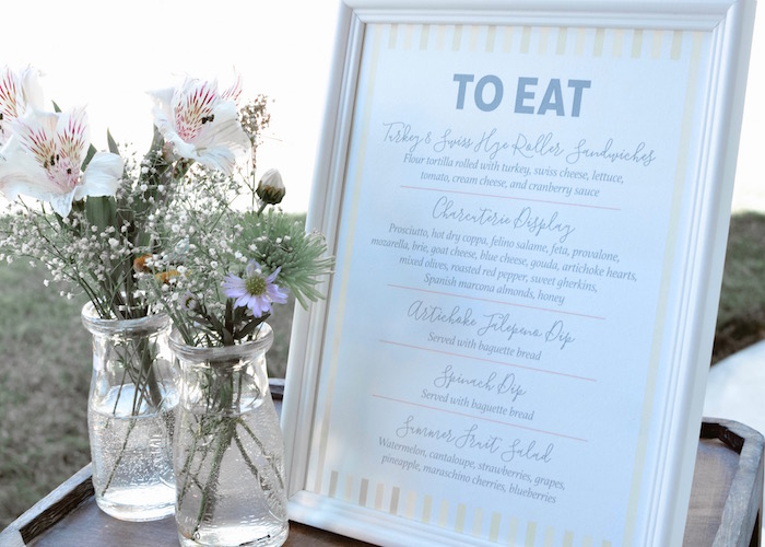Menu from a Backyard Garden Baptism on Kara's Party Ideas | KarasPartyIdeas.com (14)