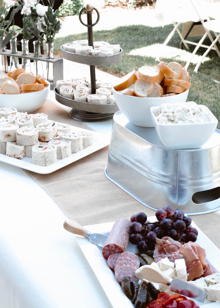 Food table from a Backyard Garden Baptism on Kara's Party Ideas | KarasPartyIdeas.com (13)