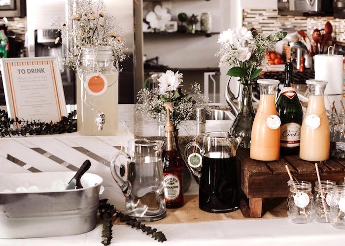 Beverage table from a Backyard Garden Baptism on Kara's Party Ideas   KarasPartyIdeas.com (11)