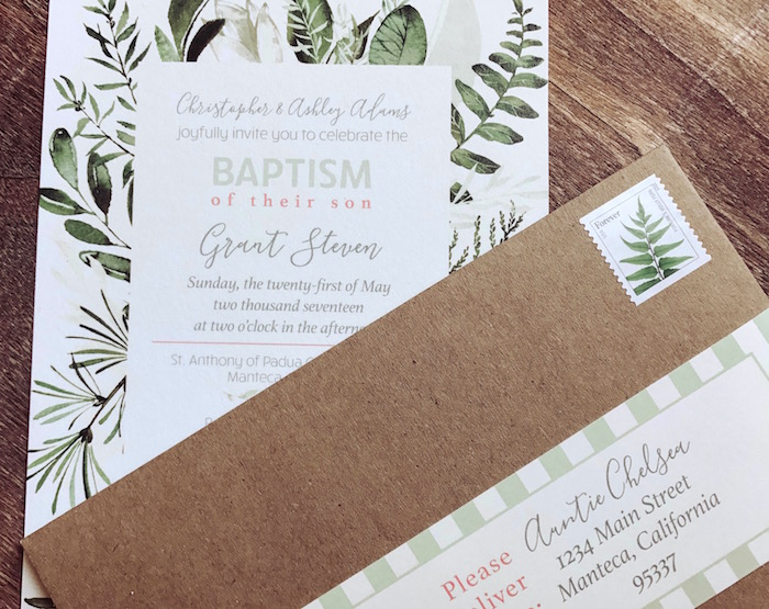 Garden Party Invite from a Backyard Garden Baptism on Kara's Party Ideas | KarasPartyIdeas.com (3)