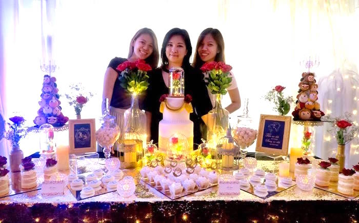Beauty and the Beast Inspired Wedding Dessert Table on Kara's Party Ideas | KarasPartyIdeas.com (15)
