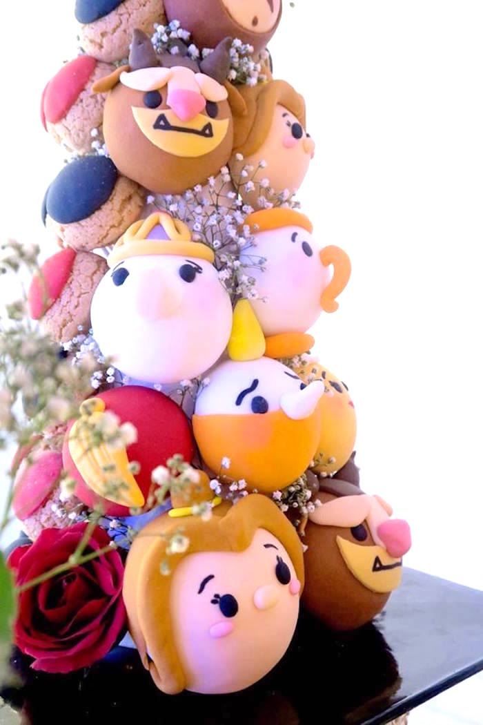 Character cookie tower from a Beast Inspired Wedding Dessert Table on Kara's Party Ideas | KarasPartyIdeas.com (14)