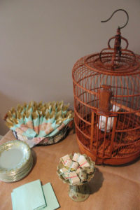Birdcage & Favors from a Librarian Book Themed Retirement Party via Kara's Party Ideas   KarasPartyIdeas.com
