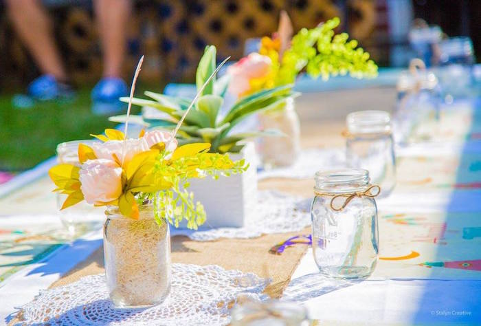 Boho guest tablescape from a Bohemian Circus Birthday Party on Kara's Party Ideas | KarasPartyIdeas.com (14)