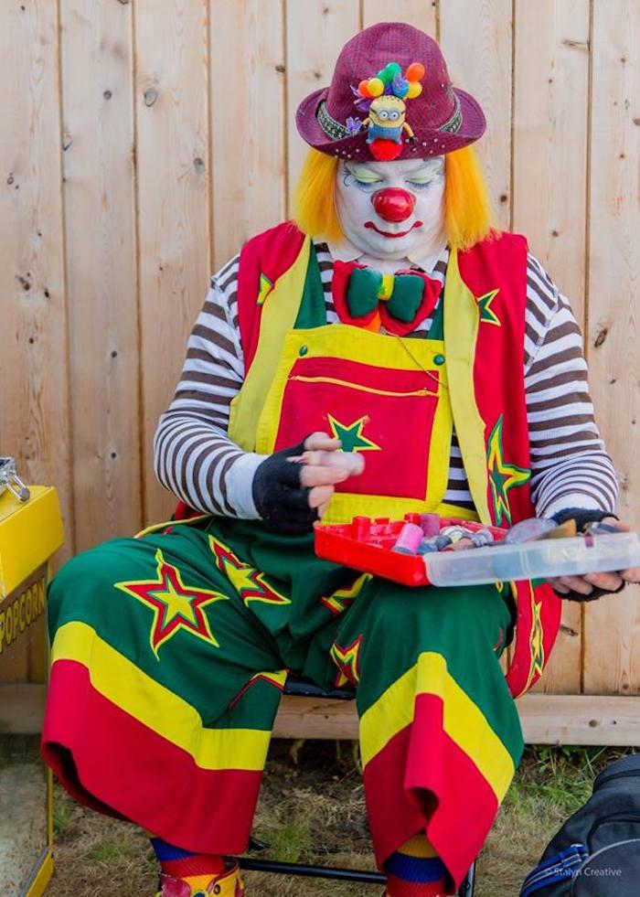 Clown from a Bohemian Circus Birthday Party on Kara's Party Ideas | KarasPartyIdeas.com (10)