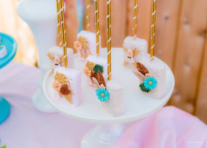 Boho Rice Krispie Treats from a Bohemian Circus Birthday Party on Kara's Party Ideas | KarasPartyIdeas.com (23)