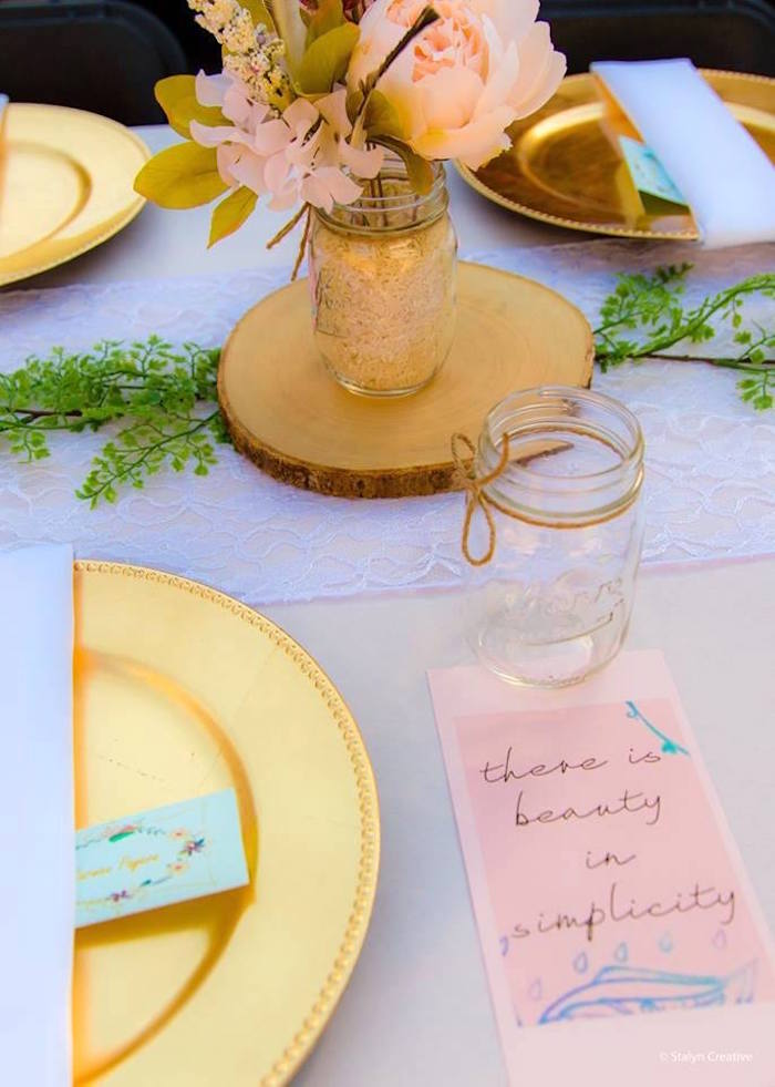 Boho place setting from a Bohemian Circus Birthday Party on Kara's Party Ideas | KarasPartyIdeas.com (20)