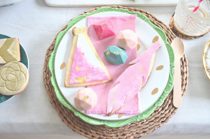 Chocolate gems & cookies from a Boho Chic Watercolor Birthday Party on Kara's Party Ideas | KarasPartyIdeas.com (14)
