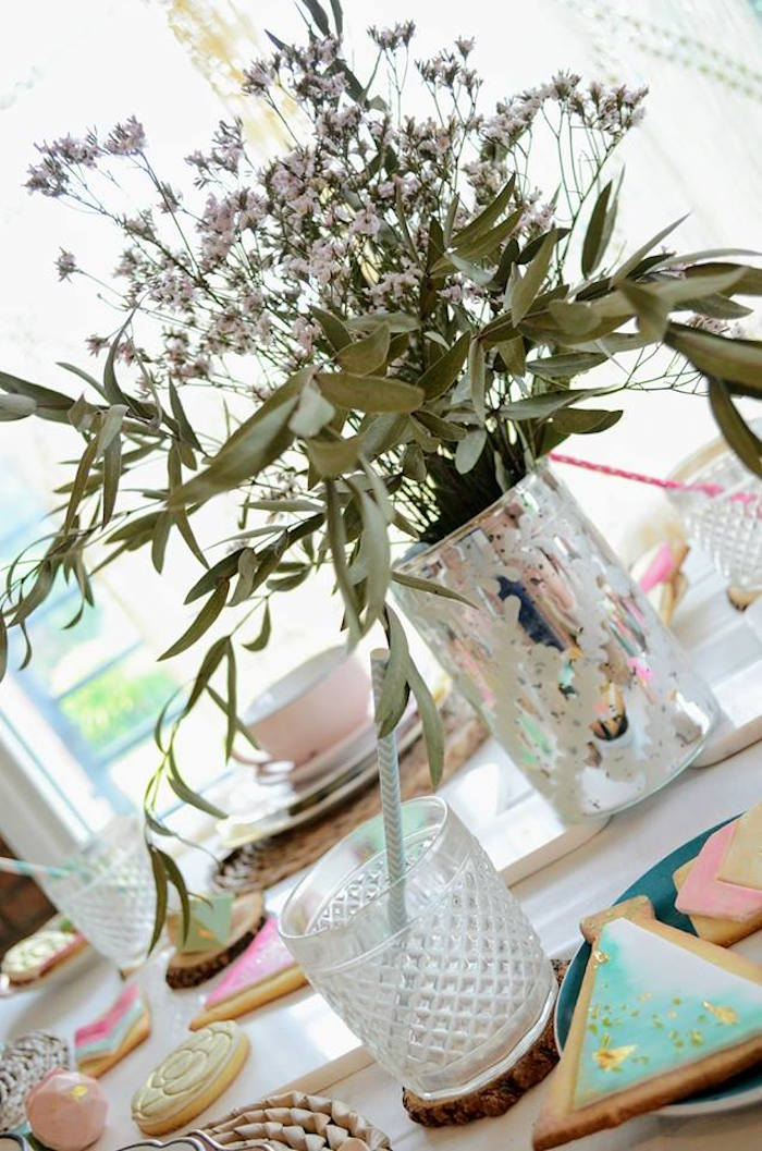 Blooms from a Boho Chic Watercolor Birthday Party on Kara's Party Ideas | KarasPartyIdeas.com (8)